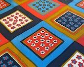 """Vintage 1978 Bassett McNab Janet Cornell """"Bandanna"""" Fabric Sample, Vintage Janet Cornell Bandanna Fabric, Vintage Hand Printed Fabric"""