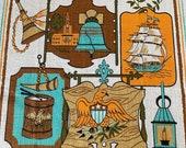 Vintage Philadelphia Tea Towel, Vintage 1970s Philadelphia Tea Towel, Philadelphia Tea Towel, Patriotic Tea Towel