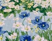 "Vintage 1970s Cohama ""Pastorale"" Fabric, 1970s Flower Power Fabric, Vintage Daisy Fabric, Cohama Fabric"