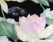 "Vintage 1980s Payne ""Lotus Garden"" Fabric Sample, Vintage Payne Lotus Garden Fabric Sample, Vintage Payne Fabric, Vintage Lotus Fabric"