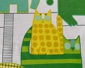 "Vintage 1960s Waverly ""Calico Circus"" Fabric, Vintage Calico Circus Fabric, Animal Fabric, Juvenile Animal Fabric"