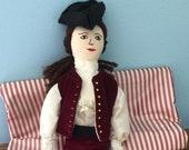 Handmade Colonial Era Style Man Doll Shenandoah Valley