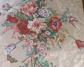 Vintage 1986 Bassett McNab Melody Fabric Sample, Melody Fabric Sample, Fabric Sample