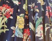 Vintage 1980s Botanical Curtains, 1980s Botanical Drapes, 1980s Amaryllis Curtains, 1980s Magnolia Drapes, 1980s Floral Curtains