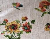 """Vintage 1970s Brunschwig & Fils """"Abigail"""" Fabric Sample, Brunschwig and Fils Abigail Hand Printed Fabric, Brunschwig and Fils Fabric"""