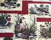 "Vintage 1966 Greeff ""Wild Fowl"" Fabric Sample from the A Man's World Collection, Greeff Wild Fowl Fabric, Greeff A Man's World Collection"