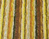 Vintage 1960s House 'N Home Yellow Tiki Barkcloth, Vintage Tiki Barkcloth, Vintage Tiki Fabric, Tiki Fabric
