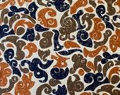 "Vintage 1960s Cohama Fabrics ""Espagna"" Abstract Fabric, 1960s Cohama Fabrics Modern Art Fabric, Cohama Espagna Fabric"
