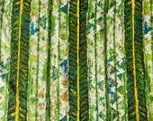 Vintage 1960s Chetley Originals Chartreuse Tiki Upholstery Fabric, Vintage Tiki Upholstery Fabric, Vintage Tiki Fabric, Tiki Fabric
