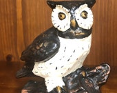 Vintage Ceramic Hand-Painted Owl
