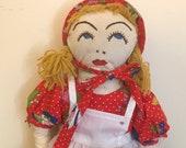 Handmade Prairie Girl Doll