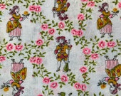 Vintage 1950s Colonial American People Fabric, Vintage Colonial People Fabric, 18th Century People Fabric, American Patriots Vintage Fabric