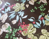 "Vintage 1980 ""Foliage"" Bassett McNab Fabric Sample, Vintage Foliage fabric by Naida McSherry, Vintage Naida McSherry Fabric"