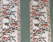 Vintage 1982 Brunschwig & Fils Mirage Fabric Sample, Brunschwig and Fils Documentary Design Fabric, Vintage Woodblock Fabric