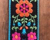 Vintage Flower Power Trim, Vintage Floral Trim, Wide Trim, Belt Material, Guitar Strap Trim, 1960s Ribbon, 1960s Trim, Ribbon, Trim