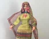 Vintage Indian Bride Doll, Kashmir Bride Doll, Kashmir Doll
