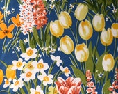 Vintage 1980 Bailey & Griffin Floral Fabric Sample, Bailey and Griffin Middleburg Garden Fabric Sample, Vintage Fabric Sample