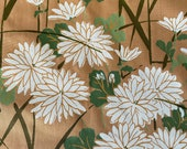Vintage 1966 Scalamandré Silks Chrysanthemum Fabric Sample, Vintage Scalamandré Silks Chrysanthemum Fabric, Chrysanthemum Fabric,