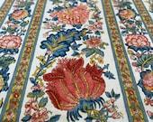 "Vintage 1980s Waverly ""Lymington"" Fabric, 1980s Waverly Lymington Fabric, 18th Century Style Fabric, Vintage Jacobean Fabric"