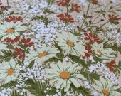 "Vintage 1970s Greeff ""Daisy Bouquet"" Fabric Sample from Greenbrook Collection, Greeff Daisy Bouquet Fabric Sample, Daisy Fabric"