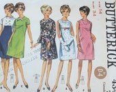 Vintage 1967 Butterick Sewing Pattern, Butterick Sewing Pattern 4348, Butterick 4348, 1960s Dress Pattern