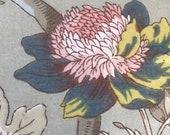 Vintage 1960s A. H. Lee & Sons Fabric Sample, Vintage 1960s Fabric, Vintage Floral Fabric Sample