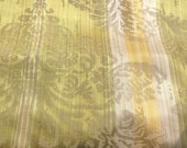 Vintage 1960s Chartreuse Damask Fabric, Vintage 1960s Chartreuse Damask Fabric Sample, Vintage 1960s Chartreuse Damask, Vintage Fabric