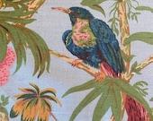 "Vintage 1974 Bailey & Griffin ""Tropical Bird"" Fabric Sample, Vintage Bailey and Griffin Tropical Bird Fabric, Bird Fabric"