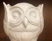 Vintage Ceramic Hear No Evil Owl