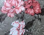 Vintage 1990s Jack Valentine Fabric Sample, Vintage Cotton Floral Fabric Sample