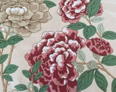 "Vintage 1976 G P & J Baker ""Chinese Peony"" Chintz Fabric Sample, Vintage Chinese Peony Fabric Sample, Vintage Peony Fabric"