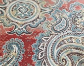 21st Century Swavelle Mill Creek Indoor/Outdoor Houssie Cinnabar Fabric, Orange Paisley