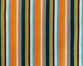 Vintage 1970s Striped Polyester Fabric, 1970s Firm Polyester Fabric, Polyester Striped Fabric