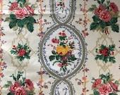 Vintage 1991 Bassett McNab Cameo Stripe Sample, Cameo Stripe Fabric Sample, Vintage Fabric Sample