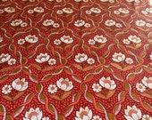 Vintage 1970 Scalamandré Waterlilies Fabric, Vintage Scalamandré Fabric, Vintage Tulip Fabric, Tulip Fabric, Lotus Flower Fabric