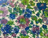 "Vintage 1961 Greeff ""Jamaica"" Fabric Sample from the Sun Sea Sky Collection, Greeff Jamaica Fabric Sample, Vintage Linen Floral"