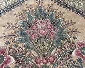 Vintage 1980 Duralee Floral Fabric Sample, Vintage Duralee Fabric Sample, Vintage Fabric Sample