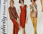 Vintage 1964 Simplicity Pattern 5574, 1960s Simplicity Sewing Pattern 5574, Simplicity 5574, 1960s Jumper and Pants Pattern