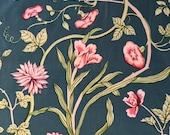 Vintage 1981 Brunschwig & Fils Blue Ribbon Fabric Sample, Blue Ribbon Fabric Sample, Vintage Fabric Sample