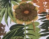 """Vintage 1960s David and Dash by Simone """"Mesabi"""" Sample, Vintage 1960s Floral Fabric, Vintage Mesabi Fabric Sample"""