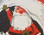 Vintage 1940s Santa Claus Christmas Card, Vintage Santa Claus Christmas Card, Santa Claus Christmas Card, Christmas Card Service