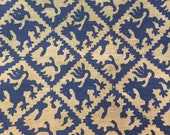 Griffin Printed Burlap Fabric Remnant