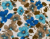 Vintage 1940s Pansy Fabric, 1940s Pansies Fabric, Vintage Flower Fabric