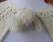 Vintage Cape / Vintage Crochet Cape / Vintage Off White Crochet Cape