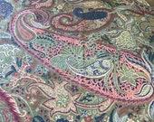 Vintage 1983 Bassett McNab Prestwick Paisley Fabric Sample, John H Jacoby Fabric Sample, Fabric Sample