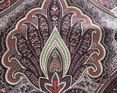 """Vintage 1986 Duralee """"Bengale"""" Fabric Sample, Vintage Duralee Bengale Fabric Sample, Vintage Duralee Bengale, Vintage Brown Paisley"""