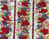 Vintage 1960s Woodson Wallpapers Floral Fabric Sample, Rare Woodson Wallpapers Madeleine Fabric Sample, Vintage Fabric Sample