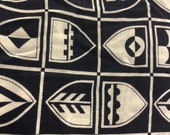 Vintage Navy Nautical Fabric, Vintage Shield Fabric, Nautical Fabric, 90s Fabric,