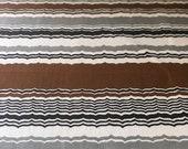 """Vintage 1960s Bassett McNab Robert Lester """"Ripple"""" Fabric Sample, Vintage Robert Lester Fabric, Vintage Hand Printed Fabric"""