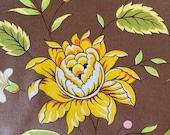 "Vintage 1984 Brunschwig & Fils ""Indian Bamboo"" Fabric Sample, Brunschwig and Fils Indian Bamboo Fabric, Vintage Chintz Floral"